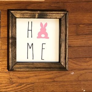 HOME BUNNY sign